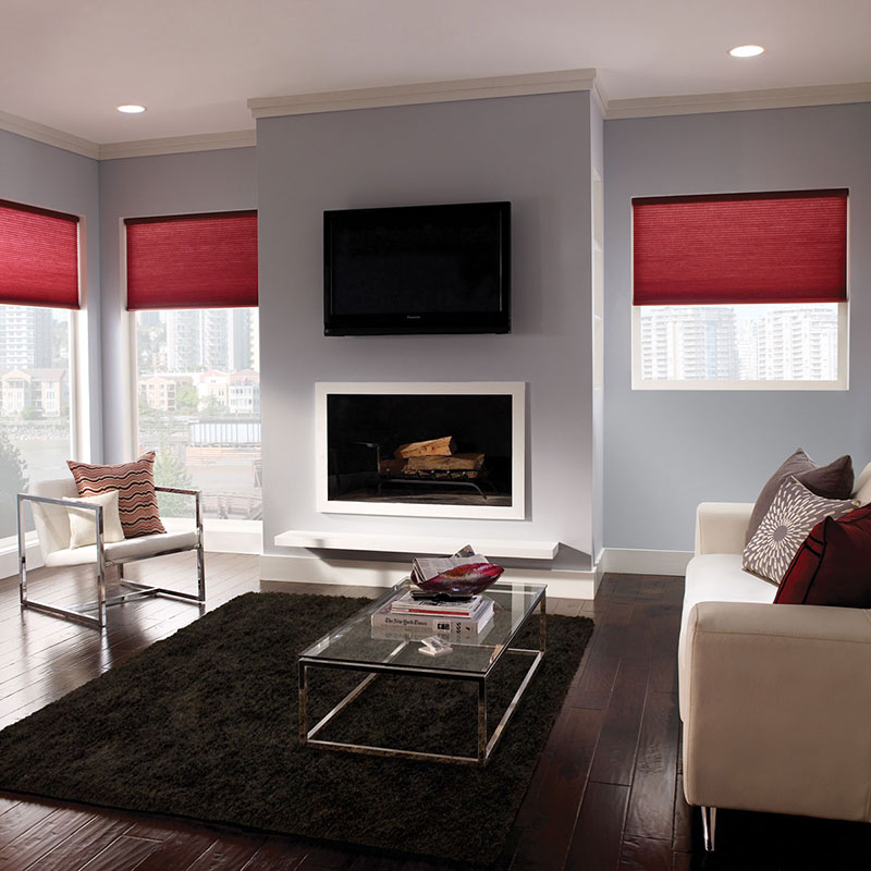 Lutron Honeycomb shades