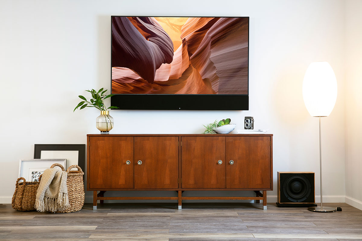 Leon Speakers soundbar and floor speaker